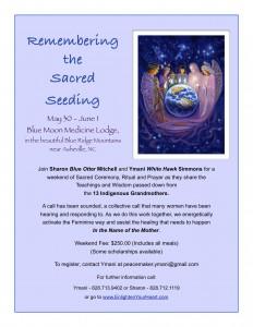 Remembering the Sacred Seeding flier